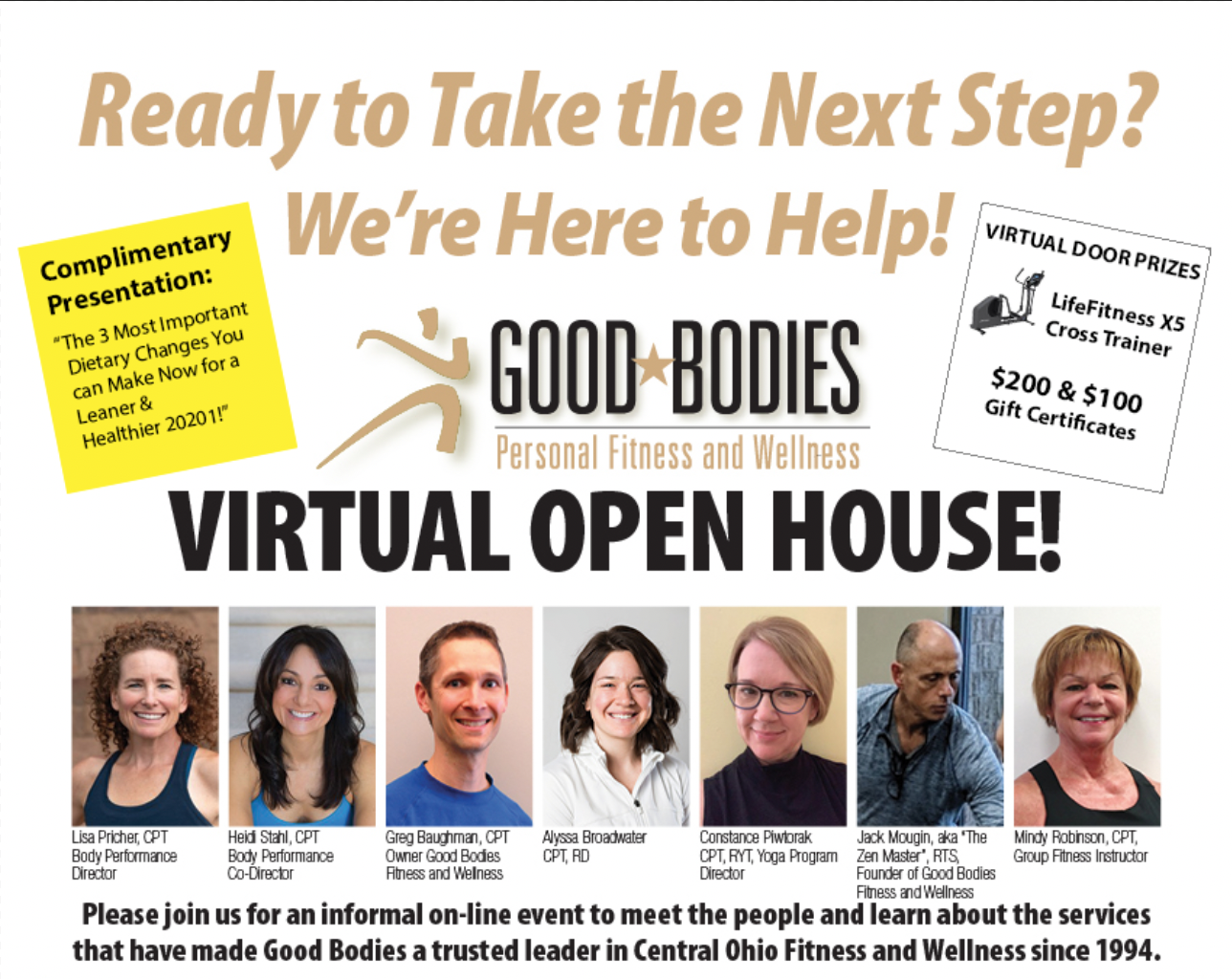 Good Bodies Fitness Virtual Open House